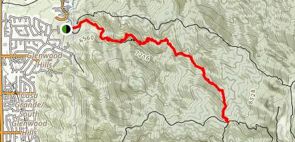 Embudito Canyon Trail Map