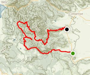 Philmont Scout Ranch Trek 9 Map