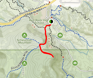Schuerman Mountain Lookout Map