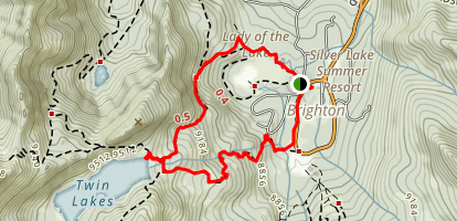 Twin Lake Loop Map