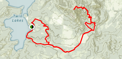South Twin to Moon Mountain Map