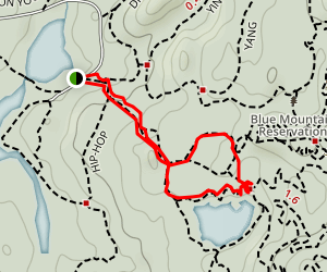 Lost Bridge Loop via Blue Mountain Summit Trail Map