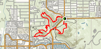 Thunderbird Park Three Peaks Loop Trail Map