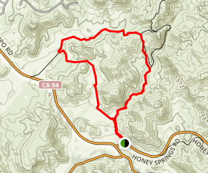 Honey Springs Trail and Daley Ranch Truck Loop Map