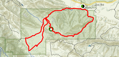 Round Valley Perimeter Loop Map