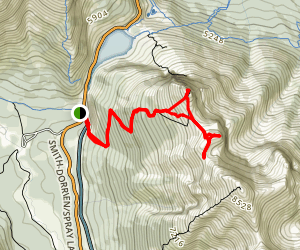 Ha Ling to Miners Peak Map