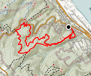 Wildwood and NW Leif Erikson Loop via Water Line Trail Map