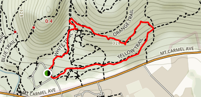 Yellow Trail to Nature Trail to Orange Trail Loop Map