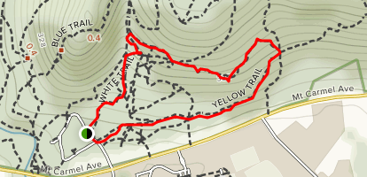 Yellow Trail to Nature Trail to Orange Trail Loop [CLOSED] Map