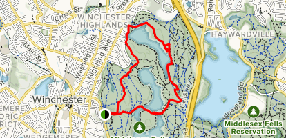 Middle and North Reservoir Loop Map