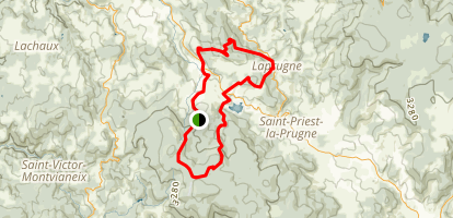 Montagne Bourbonnaise n°23 Map
