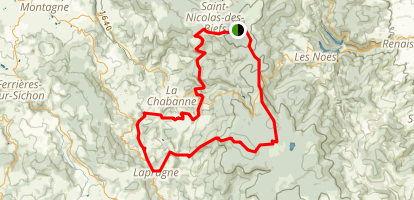 Montagne Bourbonnaise n°32  Map