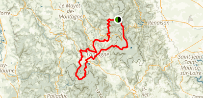 Montagne Bourbonnaise n°55 Map
