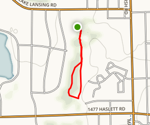 Hillbrook Park Loop from Lake Lansing Rd Parking Lot Map