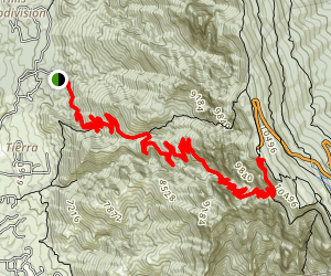 La Luz and Crest House Spur Trail (8A) Map