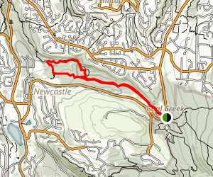 Coal Creek and Primrose Trail Loop from Lakemont Blvd Map