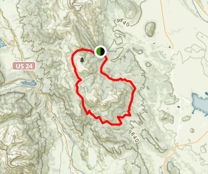 Buffalo Peaks and Salt Creek Trail Loop Map