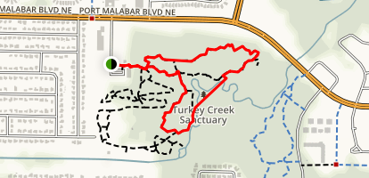 Turkey Creek: Goode Park to Turkey Creek Sanctuary Trail Map