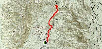 South Piedra Lisa Trail Map