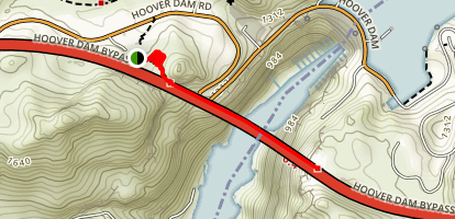 Hoover Dam Bridge Bypass Trail Map