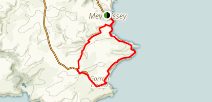 Mevagissey to Gorran to Galowras Wood Loop Map