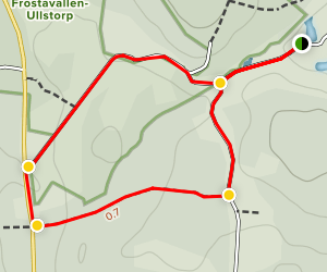 Ullstorp: Gula Slingan (Yellow Loop) Map