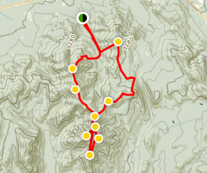 North Twin, South Twin, Guyot, West Bond, Bond, Bondcliff, Zealand, and Hale Loop Map