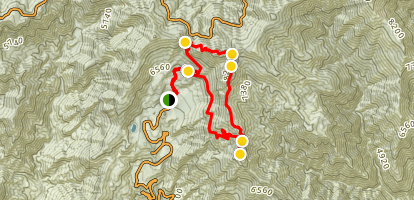 South Mount Hawkins Loop Map