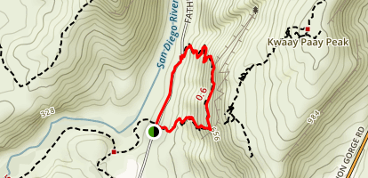 Mission Trails - Climbers Loop Trail Map