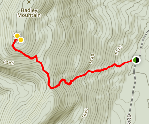 Hadley Mountain Trail Map