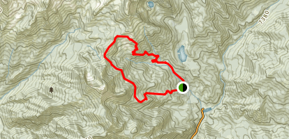 White Canyon Loop Trail Map