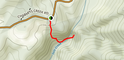 Upper Sols Creek Falls Map