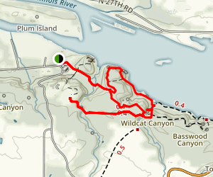 Eagle Cliff Overlook, Wildcat Canyon, and French Canyon Loop Map
