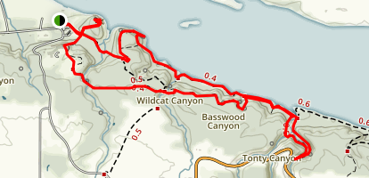 Eagle Cliff Overlook to Lonetree and La Salle Canyon to French Canyon Loop Map