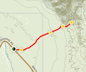 Owens Valley Trail to Wilfred Canyon Map