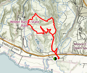 Wilder Ridge and Zane Gray Cutoff Loop Map