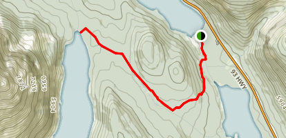 Chephren Lake Trail Map