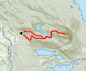 Borestone Mountain Trail Map