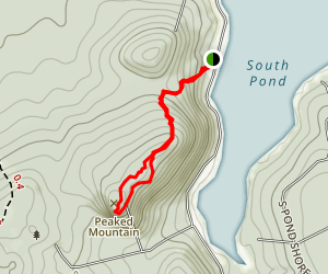 Peaked Mountain Trail Map