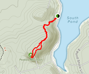 Peaked Mountain Trail [PRIVATE PROPERTY] Map