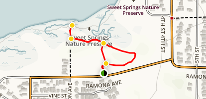 Sweet Springs Nature Preserve Loop Map