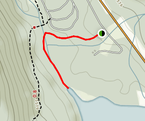 Upper Waterfowl Lake Map