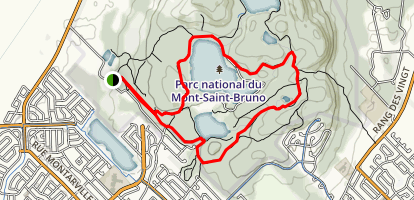 Lac Seigneurial and Lac du Moulin Loop Trail Map