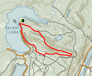 Pyramid Lake Loop Map