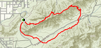 Alta Trail And Bajada Trail  Map