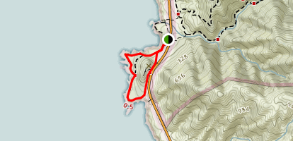 Cabrillo Highway Loop Trail (CLOSED) Map