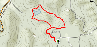 Mitchell Lake Loop Map