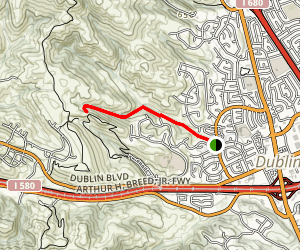 Martin Canyon Creek Trail Map