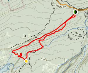 Rainbow Falls Trail Map
