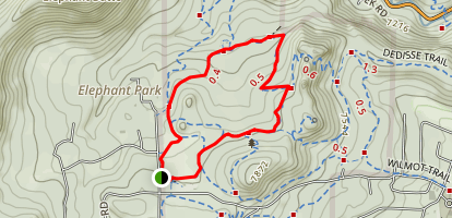 Bearberry and Silver Fox Loop Map